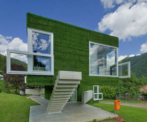 Grass Covered Home by Weichlbauer Ortis