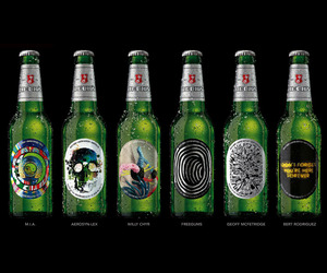 Six Limited Edition Beck's Beer Bottles