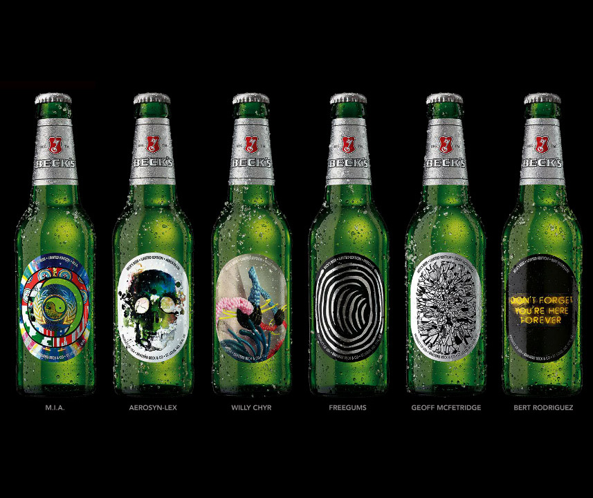 Six Limited Edition Beck S Beer Bottles