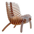 "SK ""Fish Bone"" Armchair by Nicolas Marzouanlian"