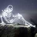 Skeletal Light Paintings by Darren Pearson