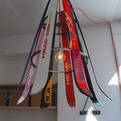 Ski-chandelier by Willem Heeffer