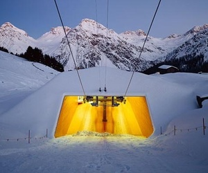 Ski-lift Carmenna in Arosa, Switzerland