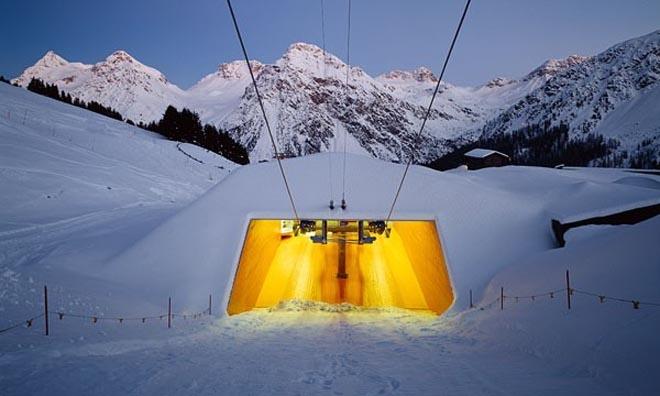 Ski Lift Carmenna In Arosa Switzerland