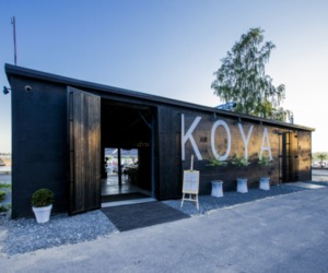 Sleek + Rustic Design of Koya Restaurant and Lounge