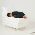 Sleepy Chair made from Mattresses