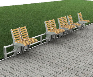Sliding Bench for Public Spaces