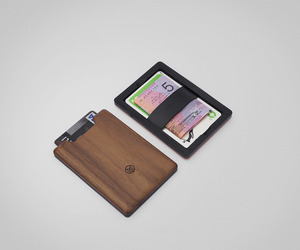 Slim Minimalist Wood Wallet