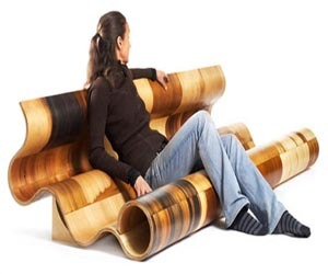 Slippery Wooden Seat by Susan Woods Studio