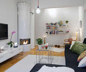Small Apartment Displaying Clever Design in Sweden