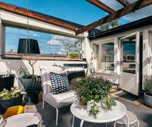Small apartment with cozy rooftop terrace