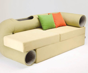 Cat Tunnel Sofa: Space-Saving Hybrid Furniture