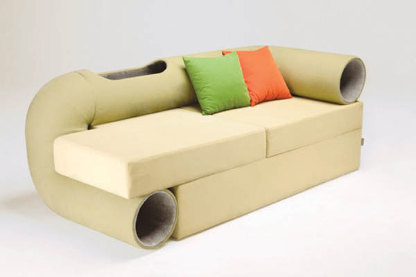 Space Saving Sofa cat tunnel sofa: space-saving hybrid furniture