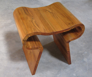 Smile Stool Made from Reclaimed Wood by Studio Hindia