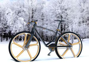 SnowBike ensures better grip on snow covered roads