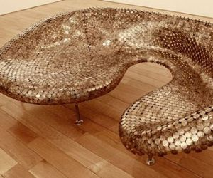 Sofa Made From Half Dollar Coins By Johnny Swing