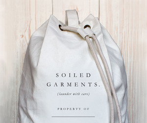 Soilded Garments, Canvas Laundry Bag