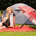 Solar Panel Umbrella For Phone Charging And Rain Protection