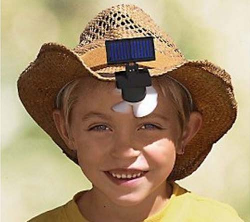 Solar Powered Hat Fan