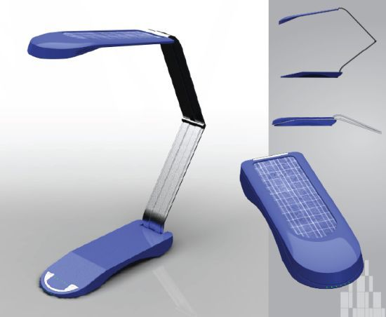 solar powered lamp. Black Bedroom Furniture Sets. Home Design Ideas
