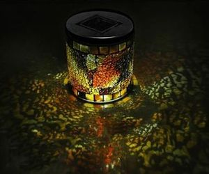 Solar powered LED Mosaic jars
