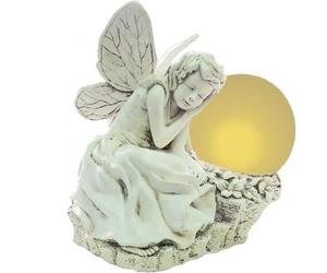 Solar Powered Lighted Resin Statue from Echo Valley
