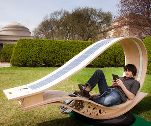 Solar Powered Sun Lounger by MIT Students