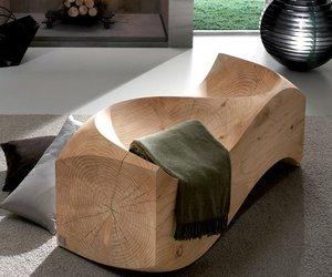 Solid Cedar Love Seat by Jake Phipps