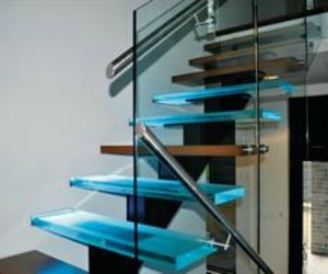 Solid Glass Stair Treads