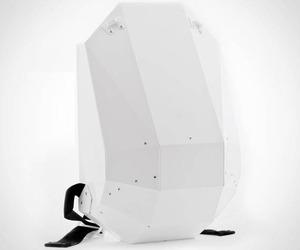 Solid Gray Hardshell Backpacks