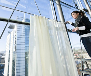 Soundproof Curtains by EMPA lets in the light