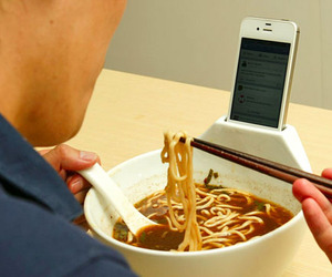 Soup Bowl & iPhone Holder by MisoSoupDesign