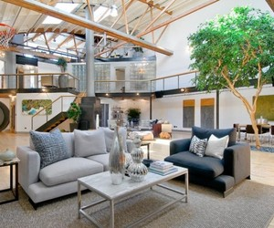Spacious Loft Home Inspired From Airplane Hangar Design