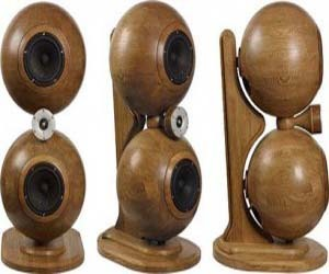 Spherical Speakers Made from High Class Natural Wood