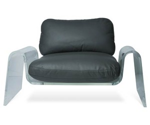 Spider Black Lounge Chairs by Giancarlo Vegni