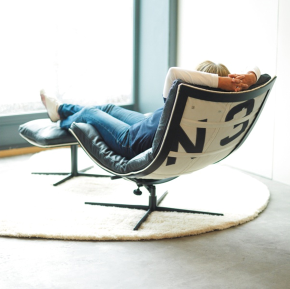 Relaxing Chair Design: Spinnaker, Chair Made From Recycled Boat Sails