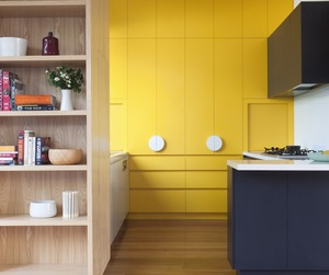 Splash of Yellow Kitchen Design by Doherty Lynch