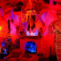 Spooky House With Holloween Decoration
