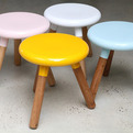 Spun Milking Stools by Glenn and Justin Lamont
