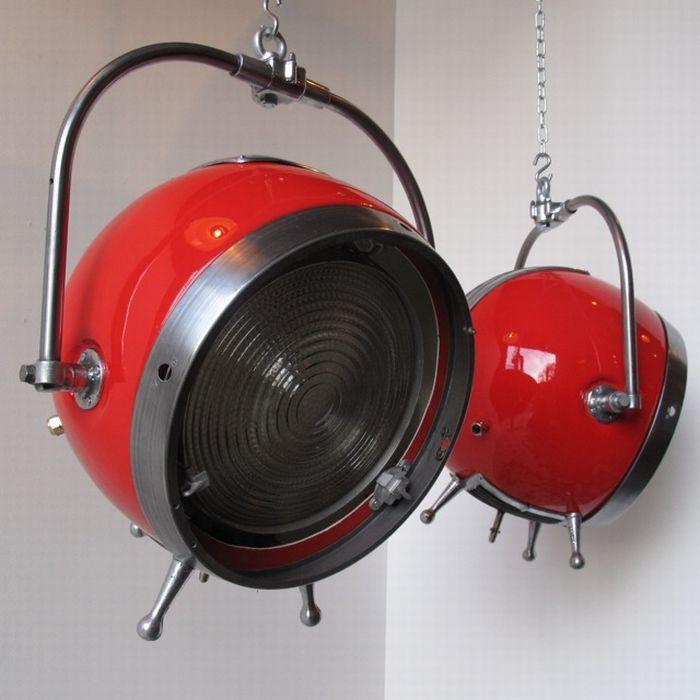 "Mole Richardson Zip Light: ""Sputnik Theater Lights By Mole Richardson"