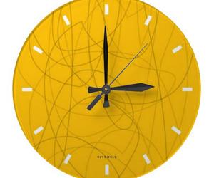 squiggy yellow wall clock