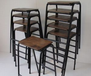 Stacking school stools