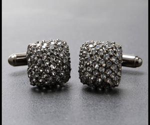Stanley Lewis Avant-Garde Smoke Silver Cufflinks