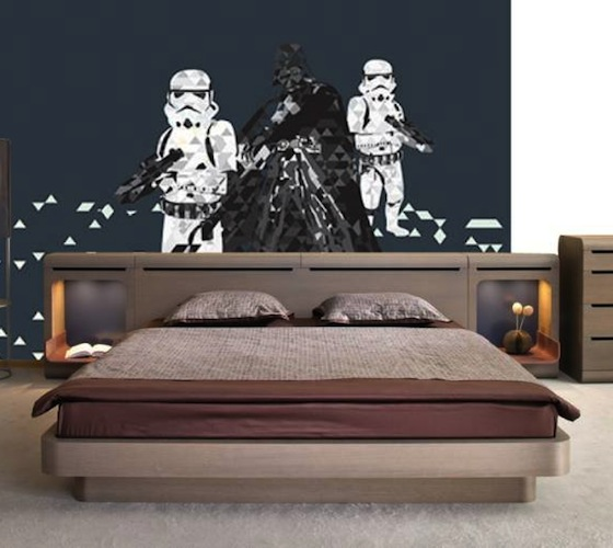 Star wars wall mural for Mural star wars