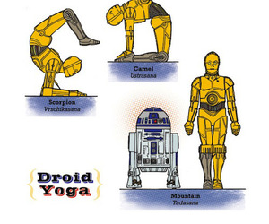 Star Wars Yoga Poses by Rob Osborne
