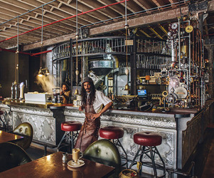 Steampunk Interior Design at Truth Coffee Shop in Cape Town
