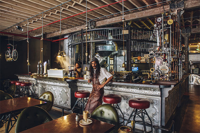 Steampunk Cafe Steampunk Interior Design At Truth Coffee Shop In Cape Town