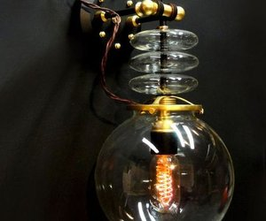 Steampunk Tesla Wall Lamp by Art Donovan