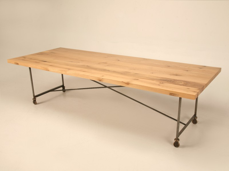 Steel And Bronze Table With Oak Top Custom Made Workshop ...