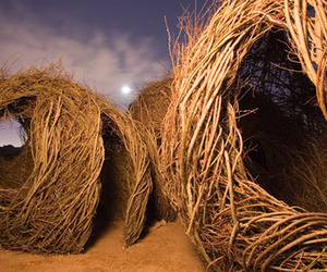 Stick Sculptures by Patrick Dougherty